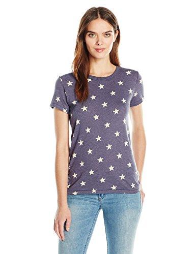 Alternative Womens Ideal Short Sleeve Crew Neck Tee  Stars  M