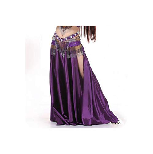 Belly Dance Costumes Belly Dance Big Skirt for Women Belly Dancing Skirts,Purple,One Size]()