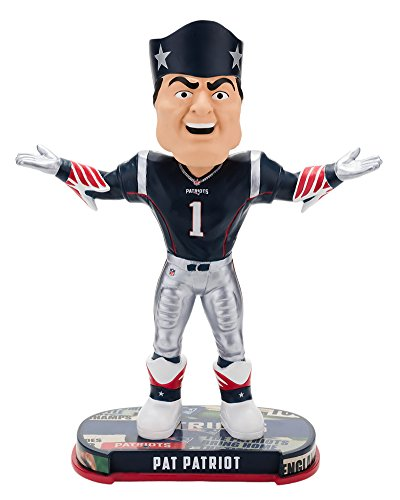 Forever Collectibles New England Patriots Mascot New England Patriots Headline Bobblehead ()