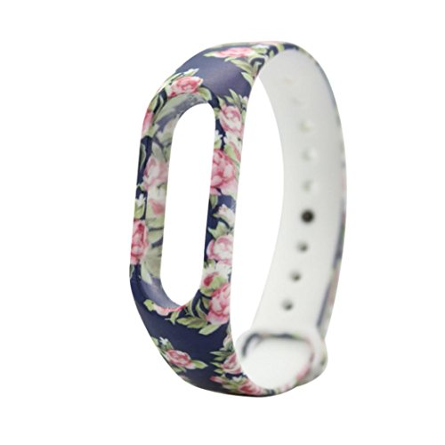 Price comparison product image Replacement Silica Gel Wristband Band Strap Bracelet For Xiaomi Mi Band 2 Bracelet, 170-220MM, Tuscom (A)