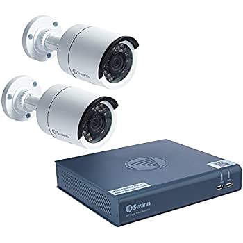 Swann 4 Channel Security System: 1080p Full HD DVR 4575 with 500GB HDD & 2 x 1080p PRO-T853 Bullet Cameras