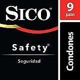 Sico Safety, Condones Lubricados Básicos Seguridad de Húle Látex Natural, Paquete con 9 Piezas