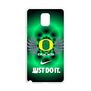 Hoomin NCAA Oregon Ducks Green Background Samsung Galaxy Note4 Cell Phone Cases Cover Popular Gifts(Laster Technology)