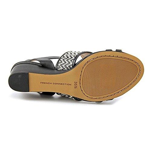 Connessione Francese Wiley Women Us 6 Sandalo Con Zeppa Nera