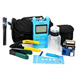 YaeTek Fiber Optic FTTH Tool Kit with FC-6S Cleaver Optical Power Meter Visual Fault Locator Finder Cable Cutter Stripper Plier