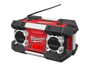 Milwaukee M12-28 C12-28DCR-0 - Radio robusta para obra   (funciona con baterías Milwaukee no incluidas)