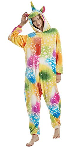 Colorful Star Abyed® Cosplay Unicorn Pigiama Attrezzatura Anime Halloween Kigurumi Costume zq8wzv6x