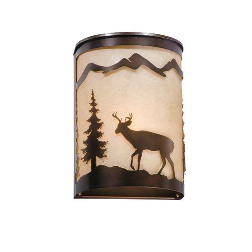 Vaxcel WS55408BBZ Bryce Wall Lamp, Burnished Bronze, 11'' x 8'' x 5''