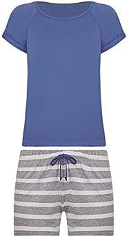 Conjunto de pijama Curto - Listrado Lupo Feminino