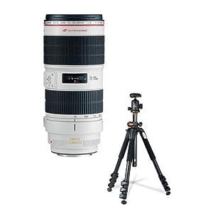 Canon EF 70-200mm f/2.8L IS II USM AutoFocus Telephoto Zoom Lens - USA - Bundle With Vanguard 264AB-100 4-section Aluminum Tripod with SBH-100 QR BallHead