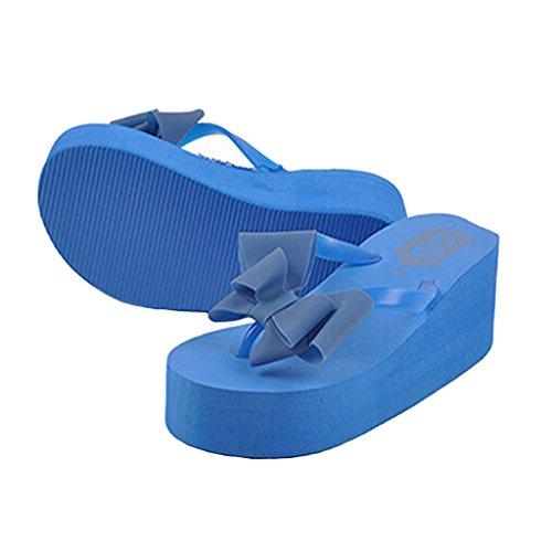 Estimadas Sandalias Time Beautiful Flip Flops Para Mujer Azul