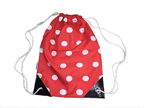 Kids Bag PE String Swimming Draw Dry Spots Red Spotty and Gymsack for Sport 4FdqnIUH