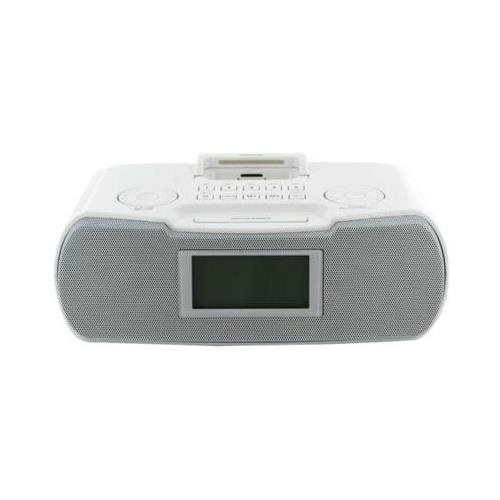 - Sangean RCR-10WH FM-RBDS/AM/Aux-in Digital Tuning Atomic Clock Radio Compatible with iPod, White, FM/AM Stereo Digital Tuning Stereo, 10 Memory Preset Stations (5 FM, 5 AM), iPod Cradle Plays and Charges any iPod