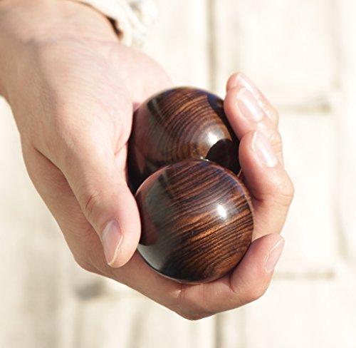 Solid Wood Baoding Ball - L'ATELIER DE o (Ebony, 45mm (Ebony Ball)