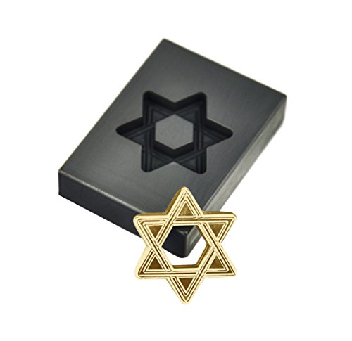 Star of David Hexagram Glassblowing Push Mold Graphite Lamp Work Religious Art