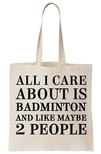 I Maybe 2 Tote Badminton About Like Canvas Is All Bag Care And People Cdx6wqdpR