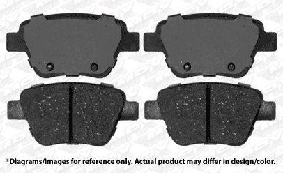 Max Brakes Rear Performance Brake Kit Fits: 2013 13 VW Jetta w// 272mm Rear Rotor Dia KT096532 Premium Slotted Drilled Rotors + Ceramic Pads
