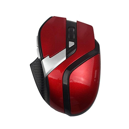 Price comparison product image Dreamyth Economical and Durable For PC Laptop 2.4GHz 6 Buttons Wireless Optical Adjustable Mouse Mice (Red D)