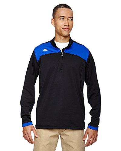 adidas Golf Mens Climawarm+ Half-Zip Pullover (A201) -BLK/Vivid -L (Climawarm Adidas Golf)