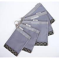 sugarSNAP Files A Set of 5 Mesh Diaper Bag Organizer Inserts (black+white)