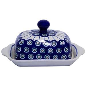 Boleslawiec Pottery Beurrier en céramique de Boleslawiec Motif 8
