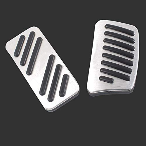 for KIA Sportage R No Drill Non-Slip Performance Car Rest Pedal Brake and Gas Pedal Covers Accessories Replacement Pedal Aluminum Alloy Pedals Set 2Pcs White