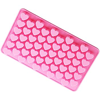 Bestjybt Silicone Mini Heart Shape Silicone Ice Cube Candy Mold Chocolate Mold