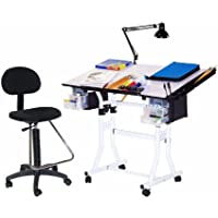 Martin Designs Home Office Universal 4-piece Creation Drafting Drawing Table