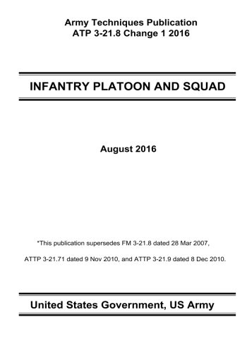 Army Techniques Publication ATP 3-21.8 INFANTRY PLATOON AND SQUAD Change 1 August 2016 - http://medicalbooks.filipinodoctors.org