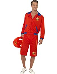 Adult Fancy Party Dress Rescue Baywatch Beach Men's Lifeguard Costume Outfit