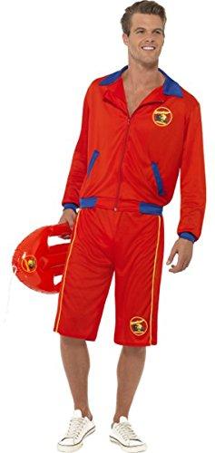 [Baywatch Beach Men's Lifeguard Costume Large] (Baywatch Costume Ebay)