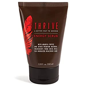 Thrive Natural Face Scrub for Men – Exfoliating Facial Cleanser for Men with Unique Premium Natural Ingredients for Energized Healthier Skin – Unclogs Pores & Helps Prevent Ingrown Hairs