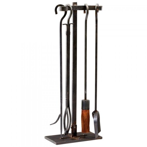 Raw Steel Lincoln Hearth Tools 5 Piece Set 04901