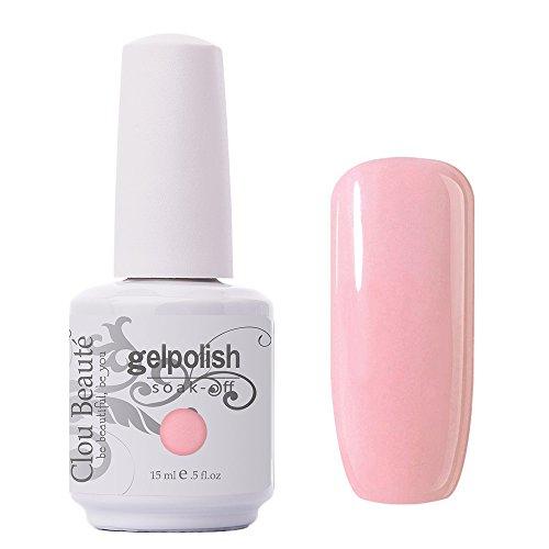 Clou Beaute Gelpolish 15ml Soak Off UV Led Gel Polish Lacquer Nail Art Manicure Varnish Color Light Pink 1408