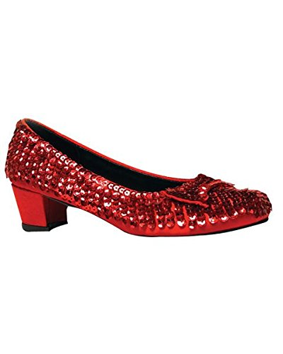 Dorothy Halloween Shoes (Funtasma by Pleaser Little Kid/Big Kid Dorothy Dress,Red Sequin,Small (US Little Kid 11-12 M))