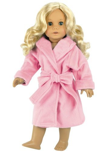 18 Inch Doll Clothes/clothing Fits American Girl Dolls - Soft Pink Doll Robe 18 Inch Doll Sleepwear Ebay American Dolls
