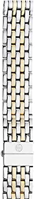Michele Womens 18mm Deco Two-Tone 7-Link Bracelet Silver/Gold
