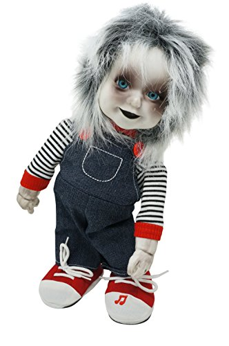 Animated Zombie Doll with Sound Creepy Standing Halloween Decoration (Creepy Halloween Things)