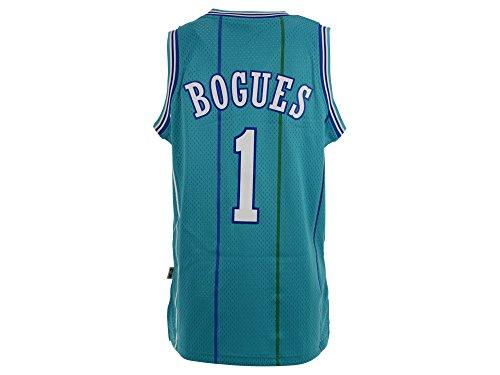 Muggsy Bogues Charlotte Hornets Adidas NBA Throwback Swingman Jersey - Teal