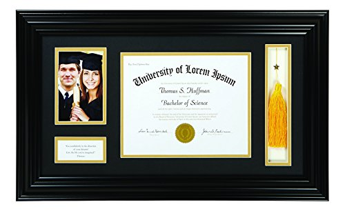 Faithworks Heartfelt Photo Frame with Diploma Holder, 16 x 25, Thoreau