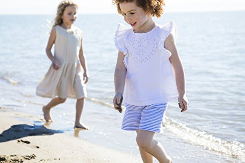 Hope & Henry Girls Flutter Eyelet Top Made With Organic Cotton
