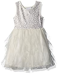 Big Girls Sequin and Mesh Dress