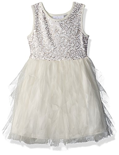 The Childrens Place Big Girls Sequin and Mesh Dress