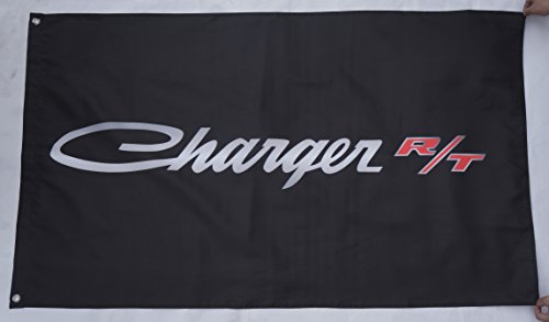 Black Charger RT flag Dodge Charger RT banner Durable Polyester Banner Dodge Charger RT car flags 3×5 ft