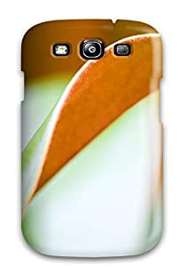 Rugged Skin Case Cover For Galaxy S3- Eco-friendly Packaging(double Sided Leaf Orange Green Twisted Nature Other)