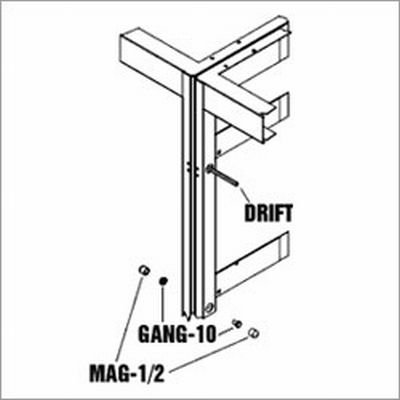 Drift Pins for Aligning Racks While Ganging, 2 Pieces