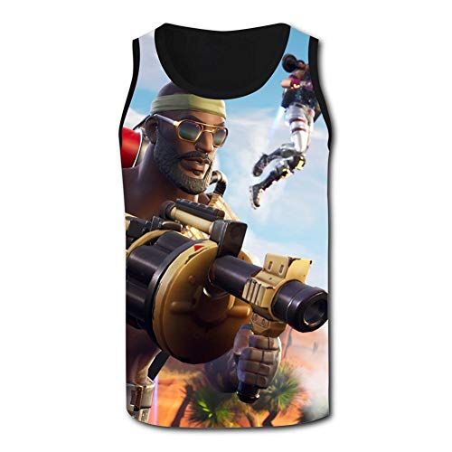 Men's Fortnite Bandolier Circuit Breaker Gumshoe Sparkle Specialist Sleeveless Tank Top Casual Shirts Sports (Circuit Breaker Cam)