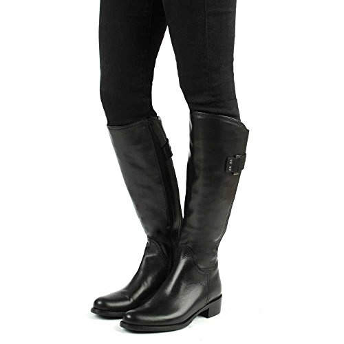 Daniel Loyalty Black Leather Knee High Boots Black Leather