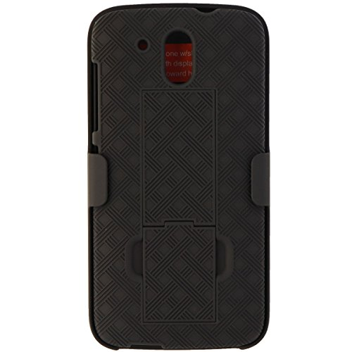 Verizon Shell Holster Combo Case for HTC Desire 526 - Black - Retail Package