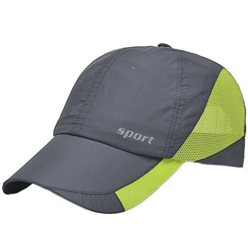 eYourlife2012 Unisex Snapback Taffeta Baseball Day Running Summer Mesh Quick Dry Hat Cap Visor from eYourlife2012